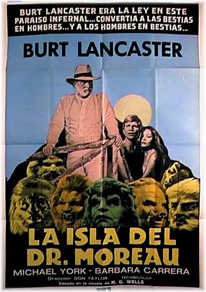 Cartel de la adaptación al cine de 'La isla del Dr. Moreau' realizada en 1977.