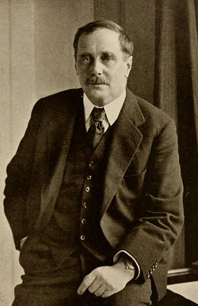 H. G. Wells en torno a 1922. Imagen de Wikipedia.