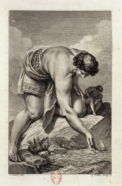 Ilustración de 'Micromegas', de Voltaire, por Charles Monnet.