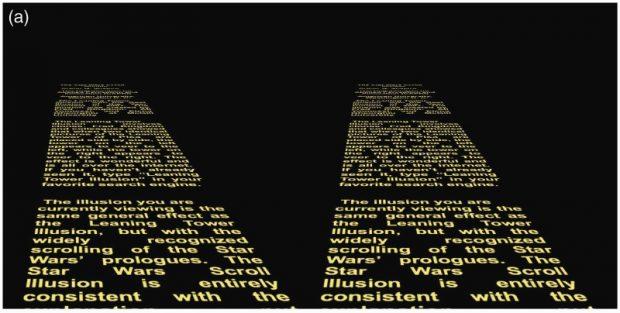 La ilusión de la introducción de Star Wars. Imagen de Shapiro / i-Perception.