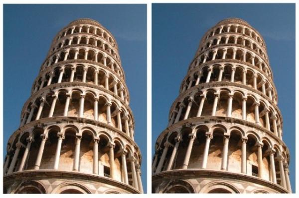 Ilusión de la Torre Inclinada. Imagen de Kingdom, Yoonessi & Gheorghiu.