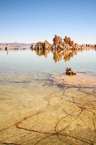 El lago Mono, en California. Imagen de Wikipedia.