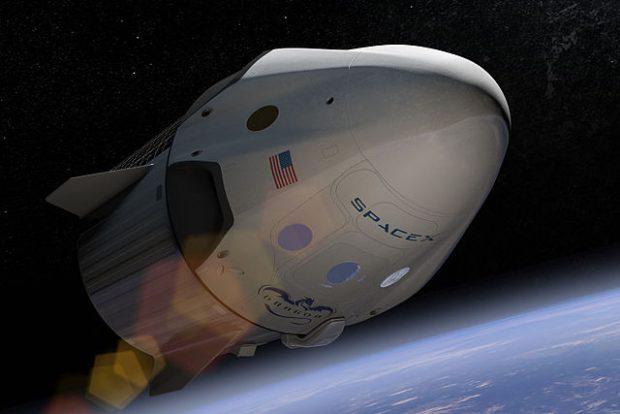 Ilustración de la nave Dragon 2 de SpaceX. Imagen de SpaceX.