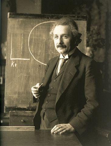Albert Einstein en 1921. Imagen de Wikipedia.