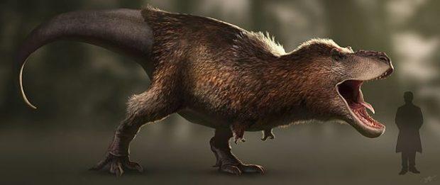 Reconstrucción actual (2016) de un T-rex. Imagen de Wikipedia.
