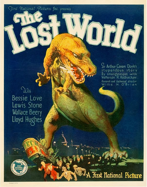 Cartel de la película 'The Lost World' (1925). Imagen de Wikipedia.