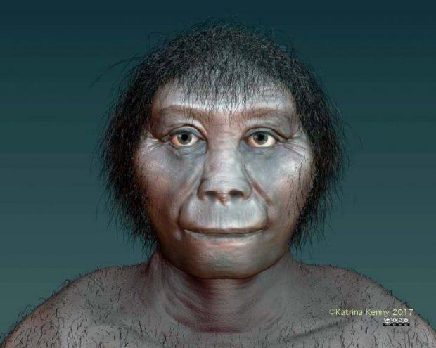 Reconstrucción del 'Homo floresiensis'. Imagen de Katrina Kenny, SA Museum.