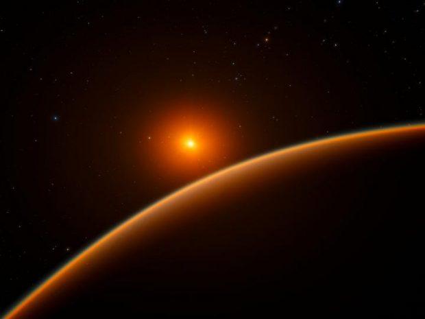Ilustración del exoplaneta LHS 1140b. Imagen de ESO/spaceengine.org.