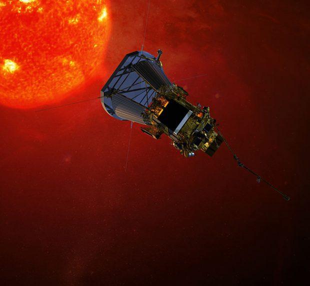 Ilustración de la Parker Solar Probe. Imagen de NASA.