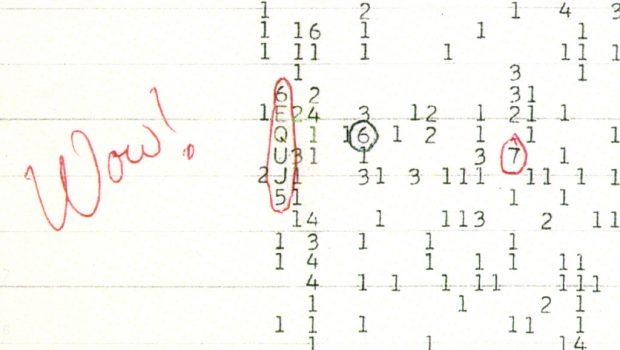 La señal Wow! Imagen de Wikipedia.