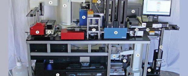 Este es el aspecto del prototipo del DBC. Imagen de Craig Venter et al. / Nature Biotechnology.
