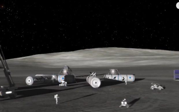 Concepto de base lunar. Imagen de ESA.