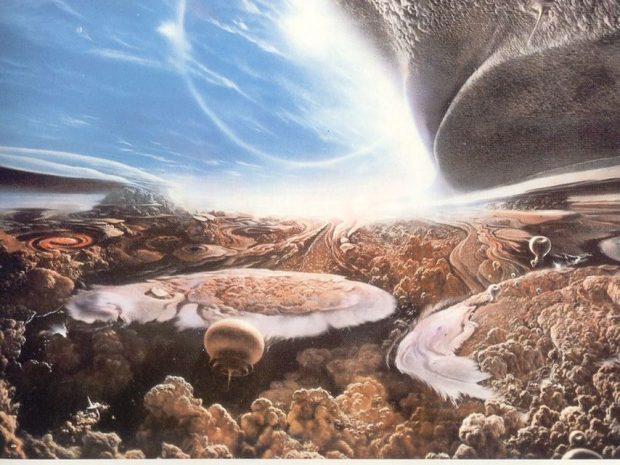 Vida en la atmósfera de un planeta similar a Júpiter, según Carl Sagan. Imagen de la serie Cosmos (1980) / PBS.