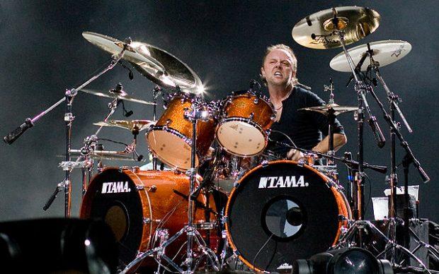 Lars Ulrich, batería de Metallica, en 2008 en Londres. Imagen de Wikipedia / Kreepin Deth.
