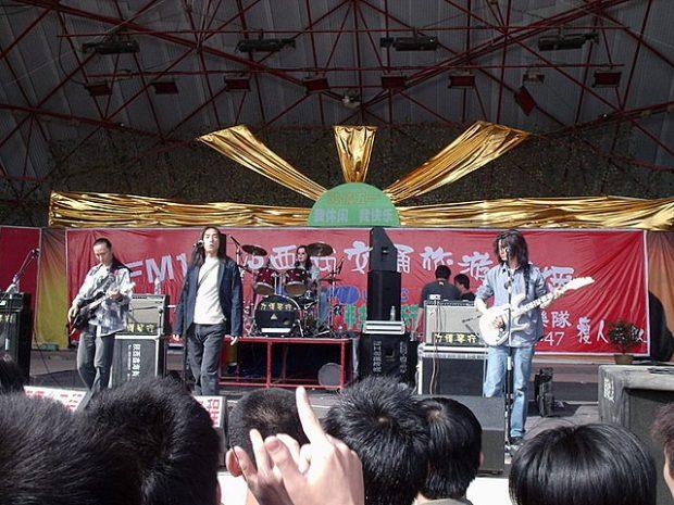 Por supuesto, también en China hay heavy metal. Tang Dynasty en 2004. Imagen de Wikipedia / Paul Louis.