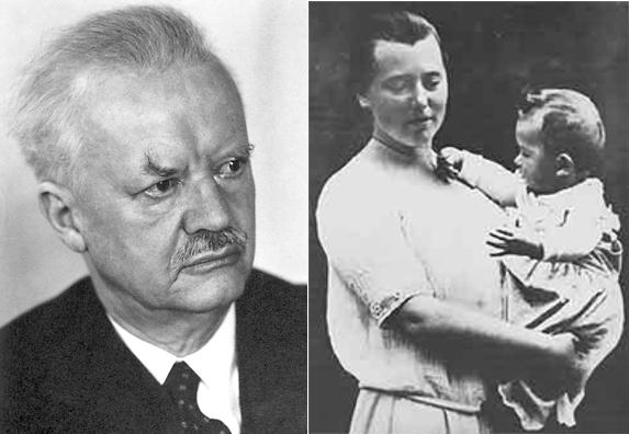 Hans Spemann y Hilde Mangold. Imágenes de Wikipedia.