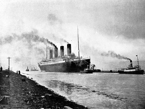El Titanic, el 2 de abril de 1912. Imagen de Wikipedia.