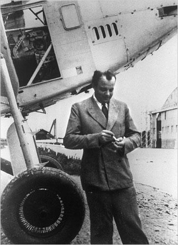 Antoine de Saint-Exupéry en Toulouse en 1933. Imagen de NYT / AFP / WIkipedia.