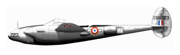 Dibujo del Lockheed P-38 F-5 Lightning que Saint-Exupéry pilotaba cuando desapareció. Imagen de Cédric Chevalier / Wikipedia.