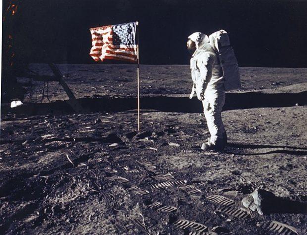 Buzz Aldrin en la Luna el 20 de julio de 1969. Imagen de NASA.