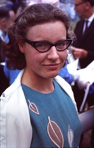 Jocelyn Bell en 1967. Imagen de Roger W Haworth / Wikipedia.