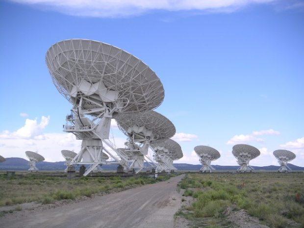 El complejo de antenas Very Large Array, en Nuevo México (EEUU). Imagen de Hajor / Wikipedia.