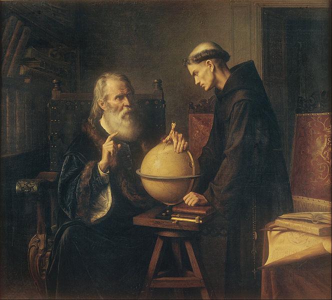 Galileo explicando sus teorías astronómicas en la Universidad de Padua, por Félix Parra. Imagen de Wikipedia.