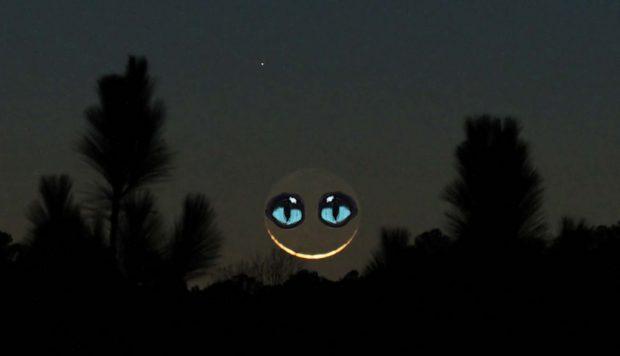 Luna de Cheshire. Imagen modificada de John Flannery / Flickr / CC.