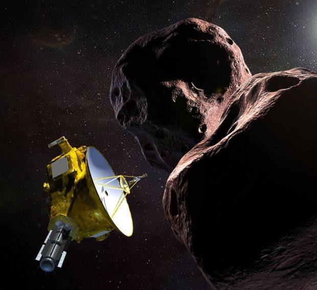 Ilustración de la sonda New Horizons acercándose a Ultima Thule. Imagen de NASA/JHUAPL/SwRI.
