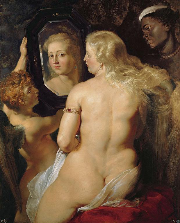 La Venus del espejo de Rubens es a menudo utilizada como símbolo por el movimiento de aceptación de la gordura. Imagen de Wikipedia.