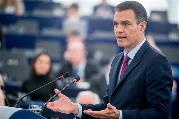Pedro Sánchez en el Parlamento Europeo, en enero de 2019. Imagen CC-BY-4.0: © European Union 2019 – Source: EP.