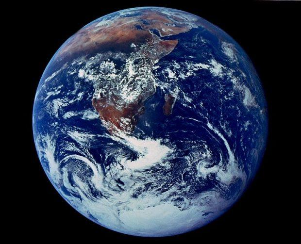 Imagen de la Tierra desde el espacio tomada por la misión Apolo 17 en 1972. Imagen de NASA.