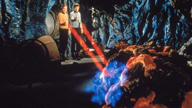 Una forma de vida basada en el silicio en la serie Star Trek. Imagen de Paramount Television.