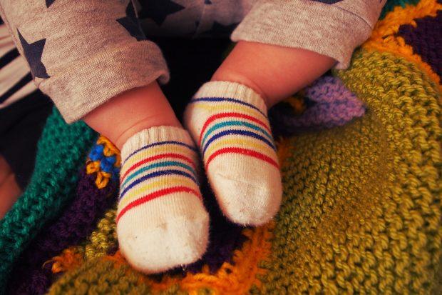 Calcetines de bebé. Imagen de pixabay.