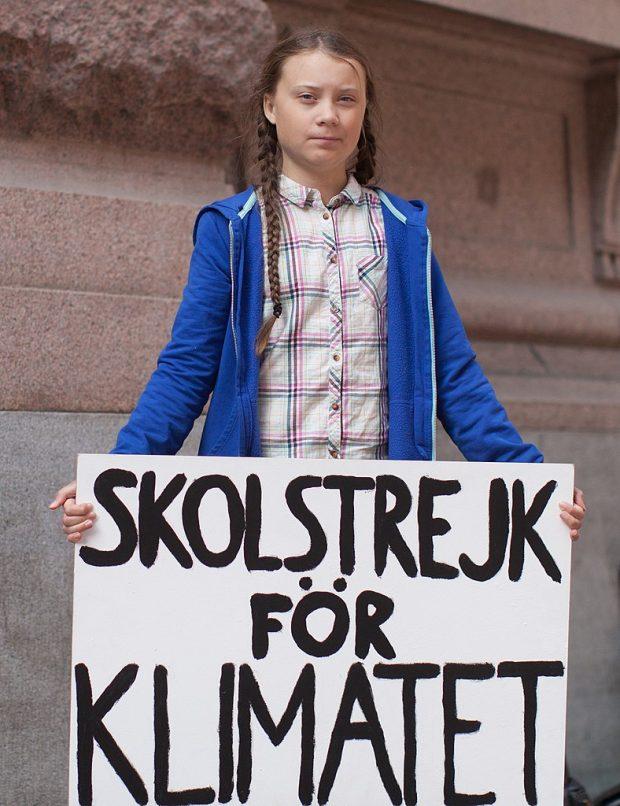 Greta Thunberg en agosto de 2018. Imagen de Anders Hellberg / Wikipedia.