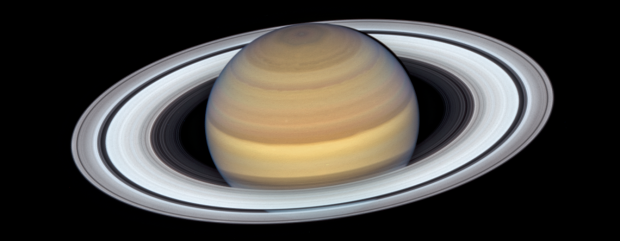 Saturno, fotografiado por el Hubble el 20 de junio de 2019. Imagen de NASA, ESA, A. Simon (Goddard Space Flight Center), and M.H. Wong (University of California, Berkeley).