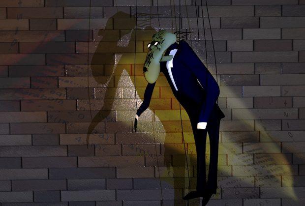 Una réplica del muñeco del profesor en 'The Wall' de Pink Floyd. Imagen de Pixabay.