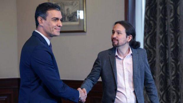 Pedro Sánchez y Pablo Iglesias, la semana pasada en el Congreso. Imagen de EFE.