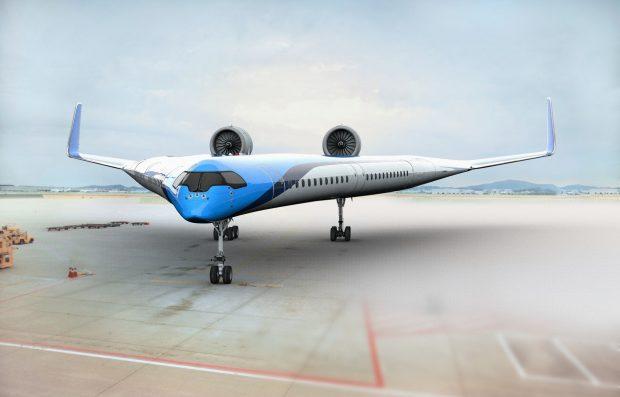 Un nuevo modelo de avión más eficiente, en desarrollo por la aerolínea holandesa KLM. Imagen de KLM.