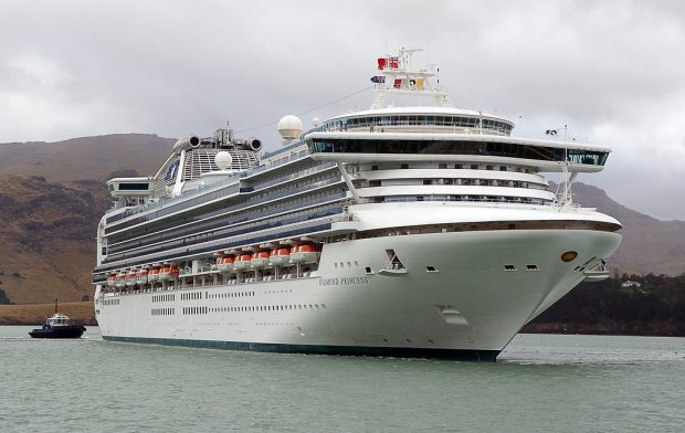 El barco Diamond Princess en 2008. Imagen de Bernard Spragg NZ / Flickr / Dominio público.