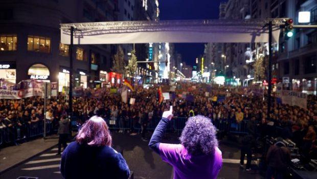 Manifestación feminista del 8 de marzo de 2020 en Madrid. Imagen de Efe / 20Minutos.es.