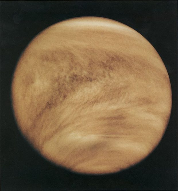 Así vio (en imagen UV) Venus la sonda de la NASA Pioneer Venus en 1979. Imagen de NASA
