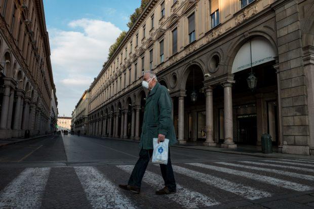Confinamiento de la COVID-19 en Turín (Italia). Imagen de pxhere.