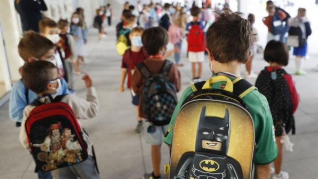 Niños en un colegio de San Sebastián. Imagen de Juan Herrero / EFE / 20Minutos.es.