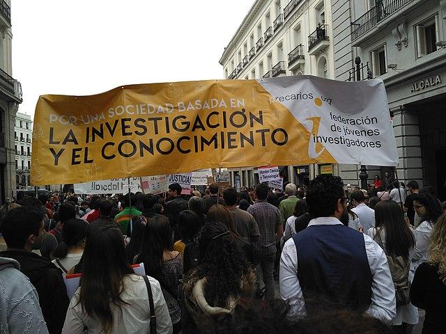 Marcha por la Ciencia, abril de 2017, en Madrid. Imagen de LLN 1 / Wikipedia.