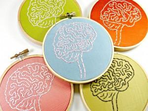 Bastidores con bordados de anatomía cerebral. / Hey Paul Studios. Flickr