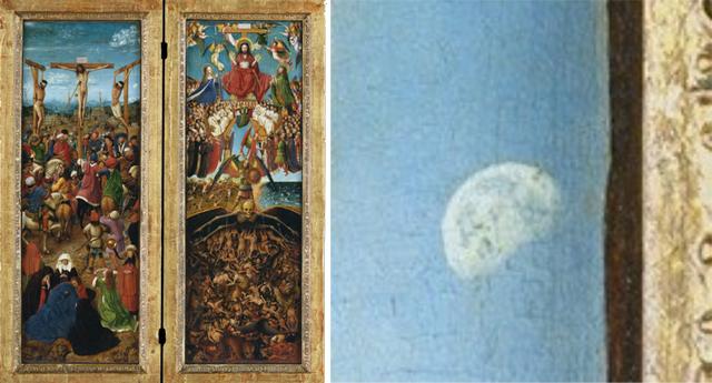 Díptico de La Crucifixión y el Jucio Final
