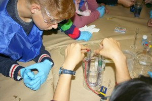 Detalle de actividad durante la Semana de la Ciencia 2014 en el Instituto Nacional del Carbón (Asturias)
