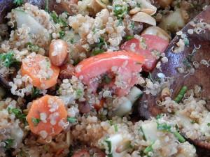 La quinoa cada vez se utiliza más como ingrediente para ensaladas /