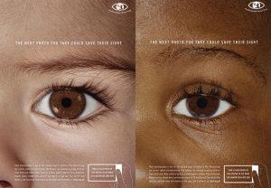 Carteles de la campaña de prevención del retinoblastoma. / Childhood Eye Cancer Trust